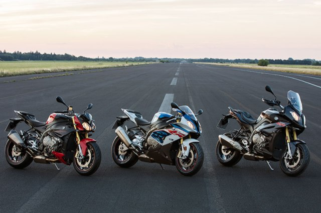 BMW has updated its S 1000 R roadster (left), S 1000 RR supersport (middle) and S 1000 XR adventure sport (right) for 2017.