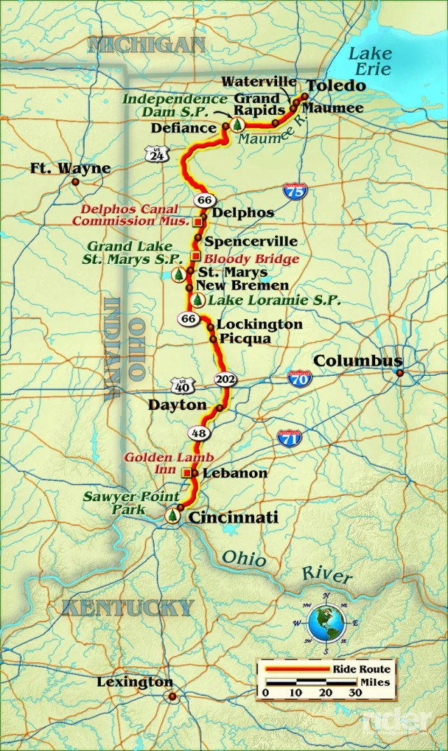 Map of the route taken, by Bill Tipton/compartmaps.com