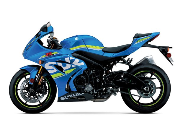 The 2017 Suzuki GSX-R1000R ABS is equipped with Showa's racing-derived Balance Free Fork (BFF) and Balance Free Rear Cushion lite (BFRC-lite) shock.