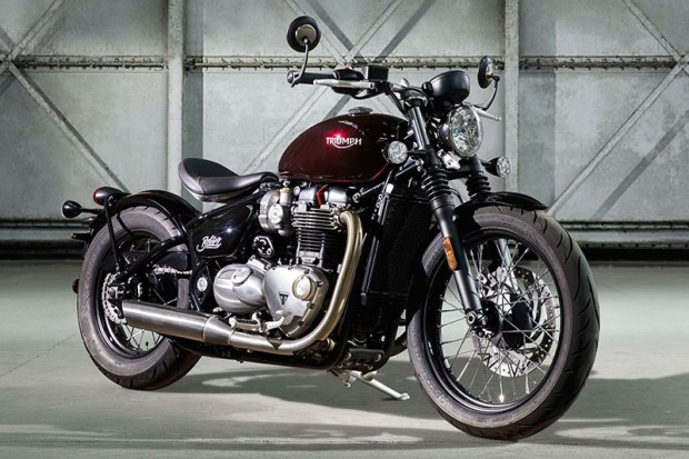 "The all-new 2017 Triumph Bonneville Bobber is powered by a specially tuned ""high torque"" 1,200cc parallel twin."