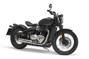 2017 Triumph Bonneville Bobber in Jet Black