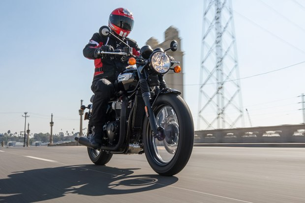 Compared to the Bonneville T120, the T100 costs less, weighs less and makes less power/torque.