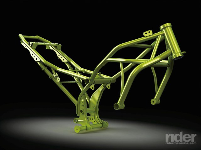 A new high-tensile steel frame offers strength and light weight.