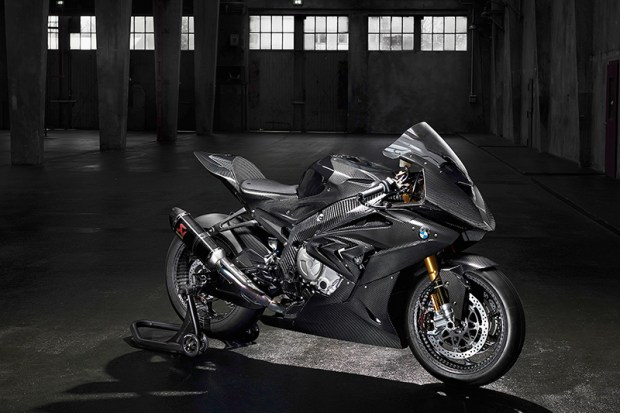 BMW's HP4 RACE prototype should be produced next spring. Details are few, but there's carbon fiber as far as the eye can see.