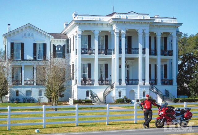 The author with his 2014 Yamaha FJR1300A at Nottoway Plantation, in White Castle, Louisiana.