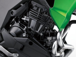 The Kawasaki Versys-X 300's 296cc parallel twin makes decent power and torque and it sips gas.