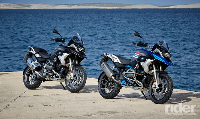 BMW's 2017 R 1200 GS will be available in two new style packages: Exclusive (left) and Rallye (right). (Photos: BMW)