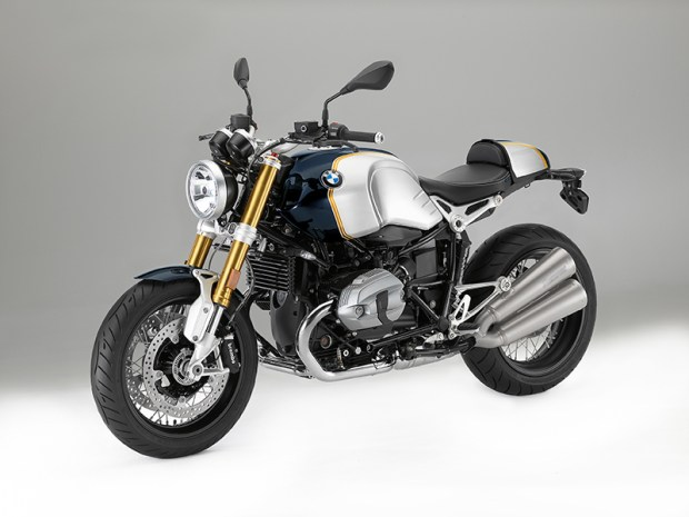 The 2017 BMW R nineT in special Blueplanet metallic/Aluminum livery.