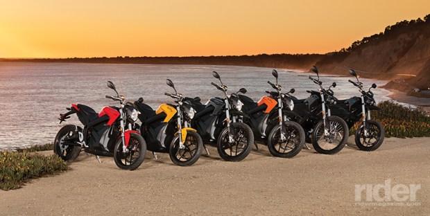 2017 Zero Motorcycles lineup. (Photos: Zero Motorcycles)