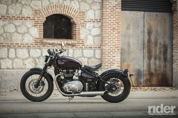 The 2017 Triumph Bonneville Bobber. (Photos by Triumph)