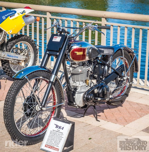 Siller won the Don Bradley award for her 1949 BSA B34 Competition.