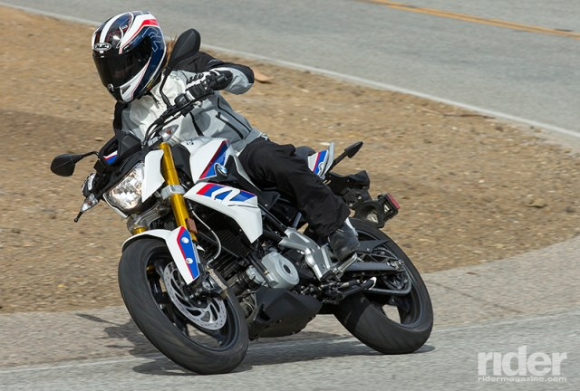 While not as edgy and racy as the KTM 390 Duke, the G 310 R feels more like a full-size bike and is surprisingly comfortable.