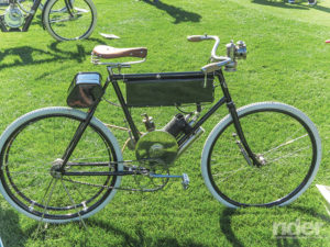 Some people think this might be the original Regular Model 1 1/2 h.p. California Motor Bicycle that George Wyman rode from San Francisco to New York City in 1903—the first motorized crossing of this great nation.