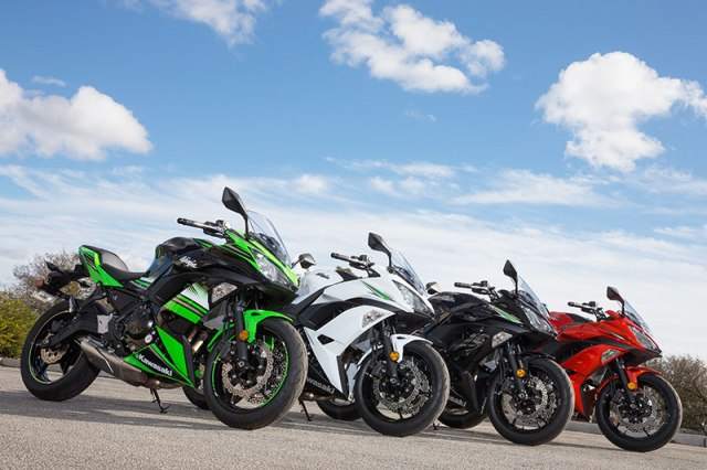 2017 Kawasaki Ninja 650 four colors