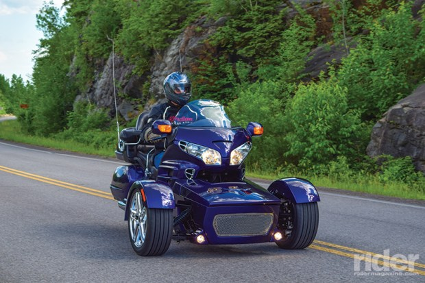 The Motor Trike Prowler RT's fully independent suspension and all mechanical steering provide excellent feel and control.