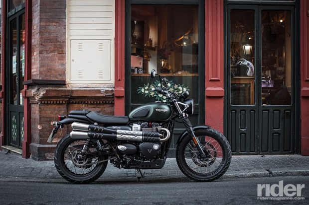 After taking a year off in 2016, the Triumph Scrambler is back, in the form of the 2017 Street Scrambler. (Photos by Alessio Barbanti and Matteo Cavallini)