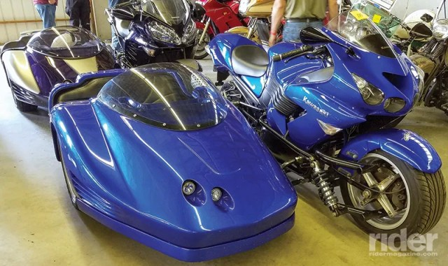 Fast Hacks: these sidecar outfits were built using a Kawasaki ZX14 and a Kawasaki Concours 14.