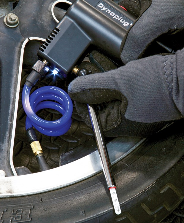 Dynaplug tubeless tire repair and inflator.