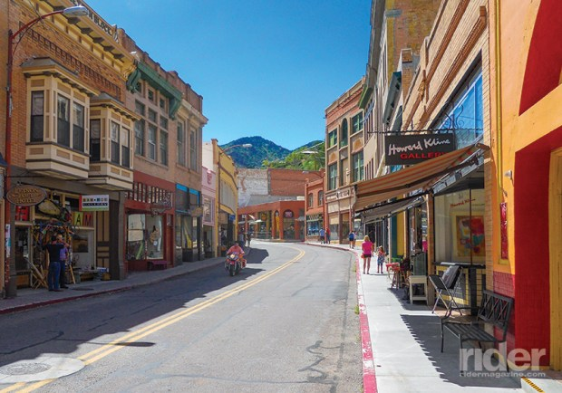Bisbee's main street is a colorful smorgasbord of quaint eateries and interesting shops.