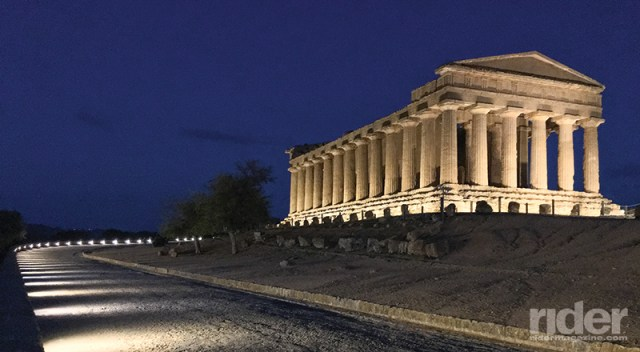 Temple of Concordia at night, in Agrigento's Valley of the Temples