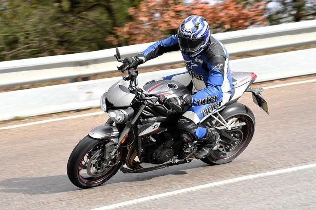 2017 Triumph Street Triple RS action