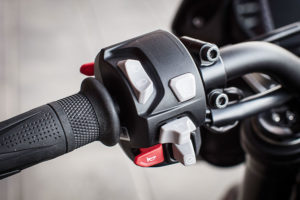2017 Triumph Street Triple RS left handlebar
