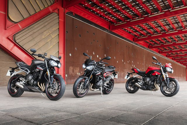 2017 Triumph Street Triple family: RS, R and S
