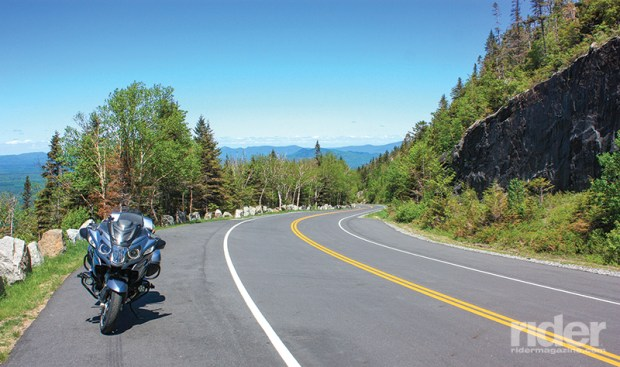 Even at its lower elevations, Whiteface Mountain Veterans Memorial Highway serves up stunning views of Adirondack peaks and lakes.