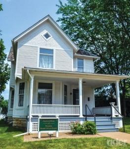 Boyhood home of Ronald Reagan, 40th U.S. President, in Dixon, Illinois.