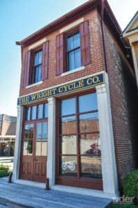 """Orville and Wilbur had the """"Wright stuff."""" The restored Wright Cycle Company building is part of the Dayton Aviation Heritage Museum in Ohio."""