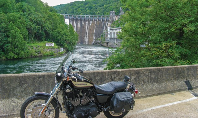 "Cheoah Dam, two miles from the North Carolina end of The Dragon, was made famous by  Harrison Ford, a.k.a. Dr. Richard Kimble, in the 1993 movie ""The Fugitive."" The dam is 232 feet high."
