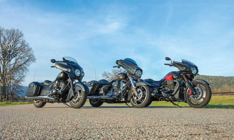 From Left To Right Are The Indian Harley Davidson And Moto Guzzi Each Looking Elegant Yet Menacing In Various Shades Of Black