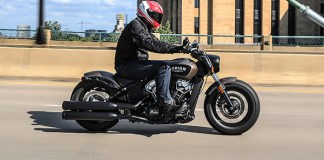 2018 Indian Scout Bobber action