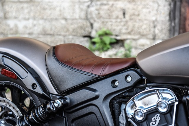 2018 Indian Scout Bobber Bronze Smoke seat