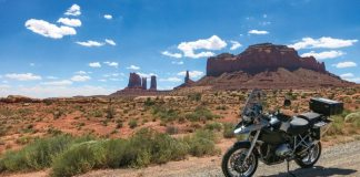 Monument Valley by motorcycle