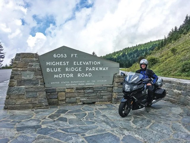 2018 BMW K 1600 B on the Blue Ridge Parkway