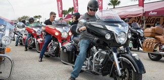 Indian Motorcycle demo rides at Daytona Bike Week