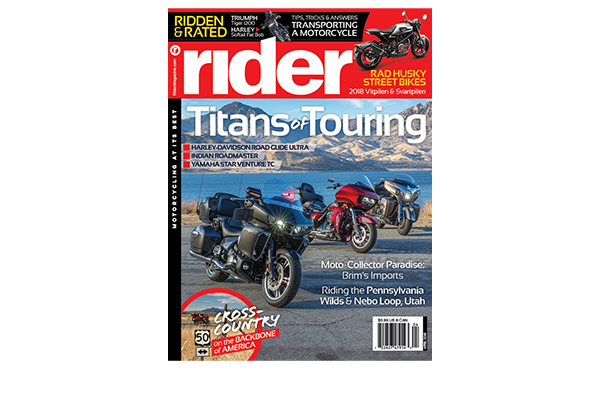 Rider magazine April 2018 cover