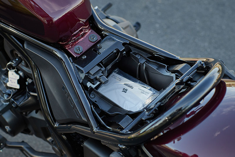 2021 Honda Rebel 1100 USB underseat storage