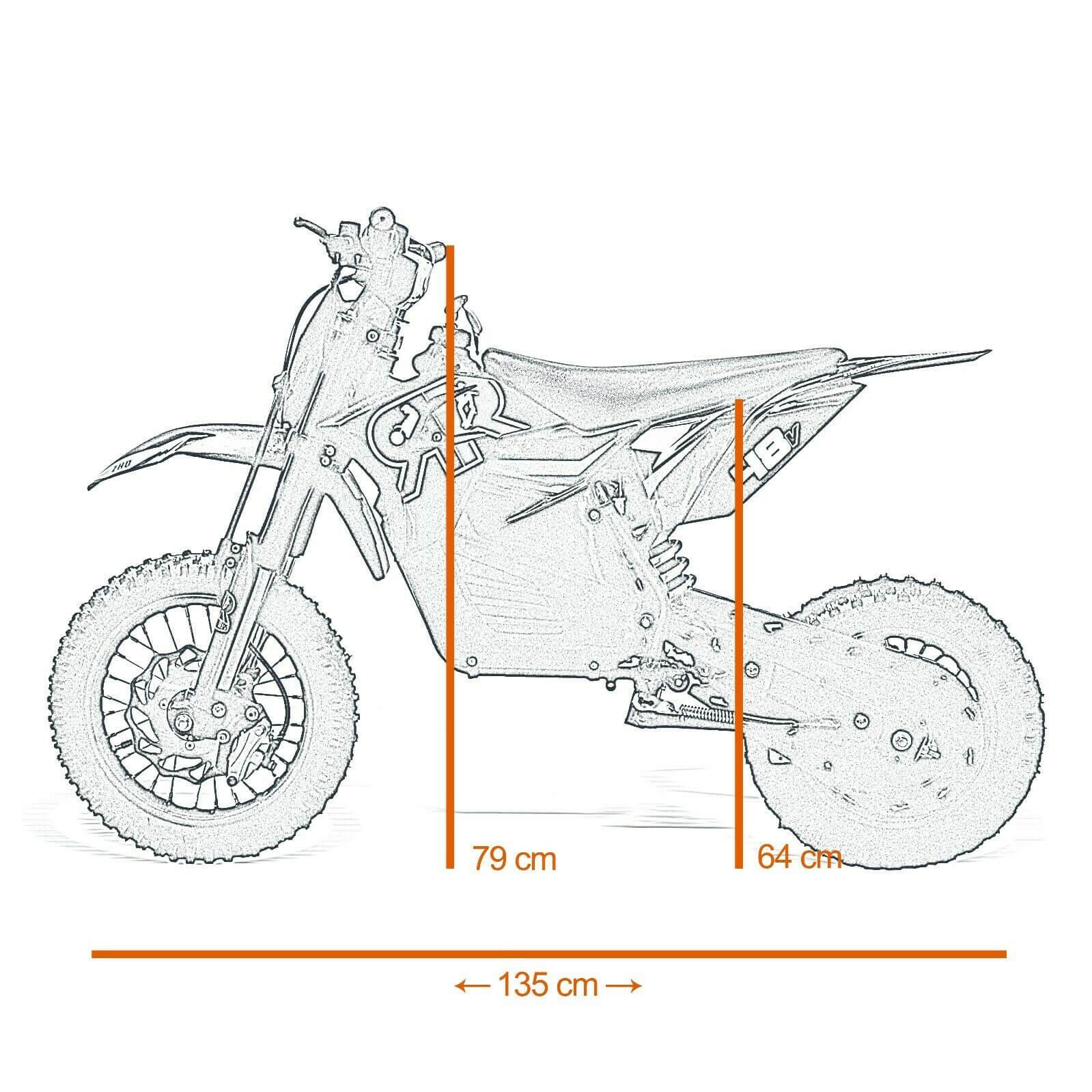 Electric 48v W Dirt Bike