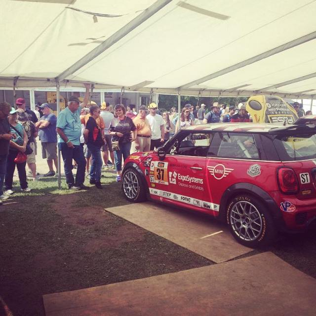 The people love MINI Coopers Getting ready to race miniusa
