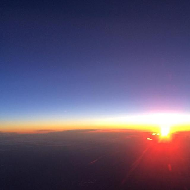 Sunrise at 30000 feet delta infinitiusa travel flying moments qx80hellip