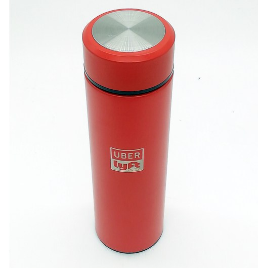 Vacuum Insulated Stainless Steel Thermal Bottle Uber Lyft Logo Frosted Fashion Beverage Bottle for Hot/Cold Drink Coffee Or Tea