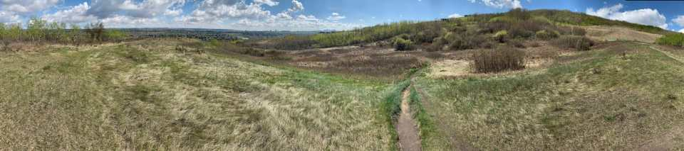 view from paskapoo slopes from one of the best places to mountain bike in Calgary,
