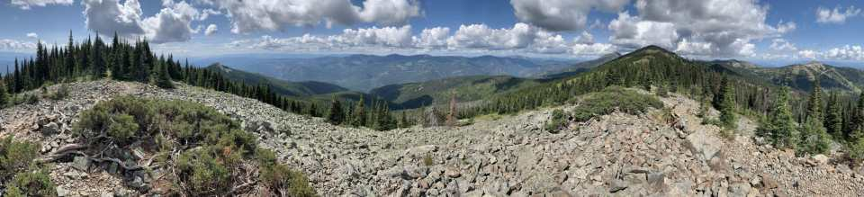 a panoramic view from the Seven Summits Trail