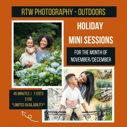 Outdoor holiday family photos orlando
