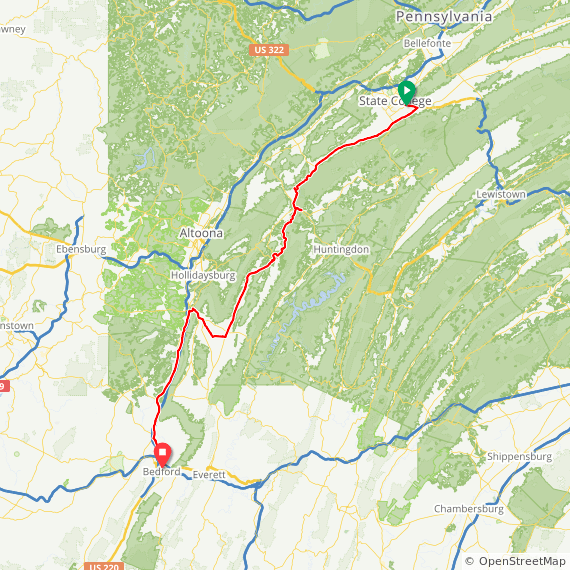 Day 3: State College to Bedford PA | Chip's bike tours