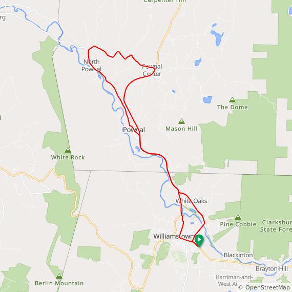 Pownal loop from Williamstown MA