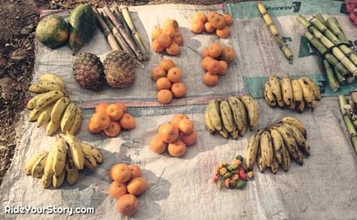 Tropical fruits, as organic as you can get.