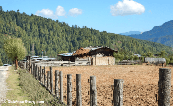 Farm house in Bumthang Valley